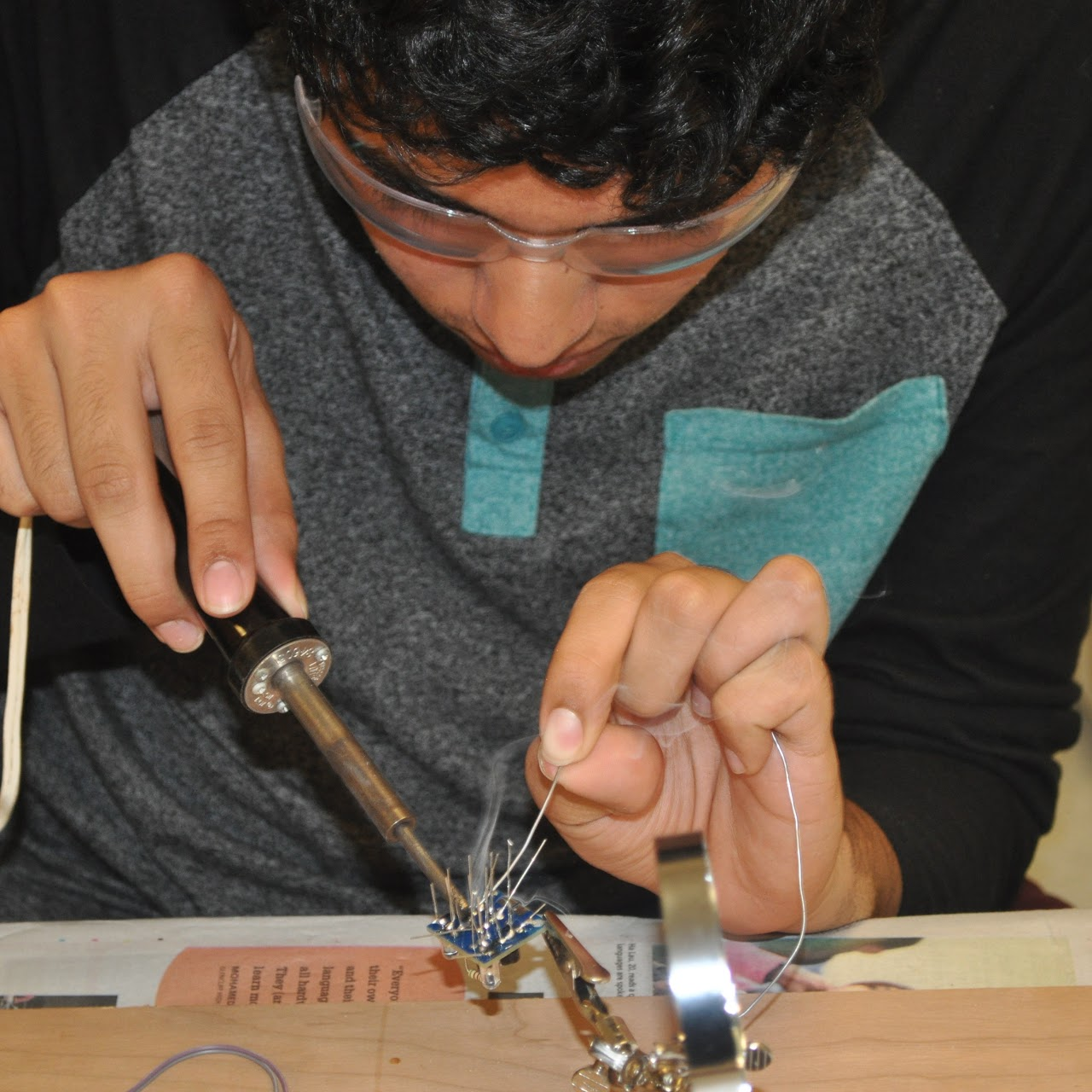 youth soldering