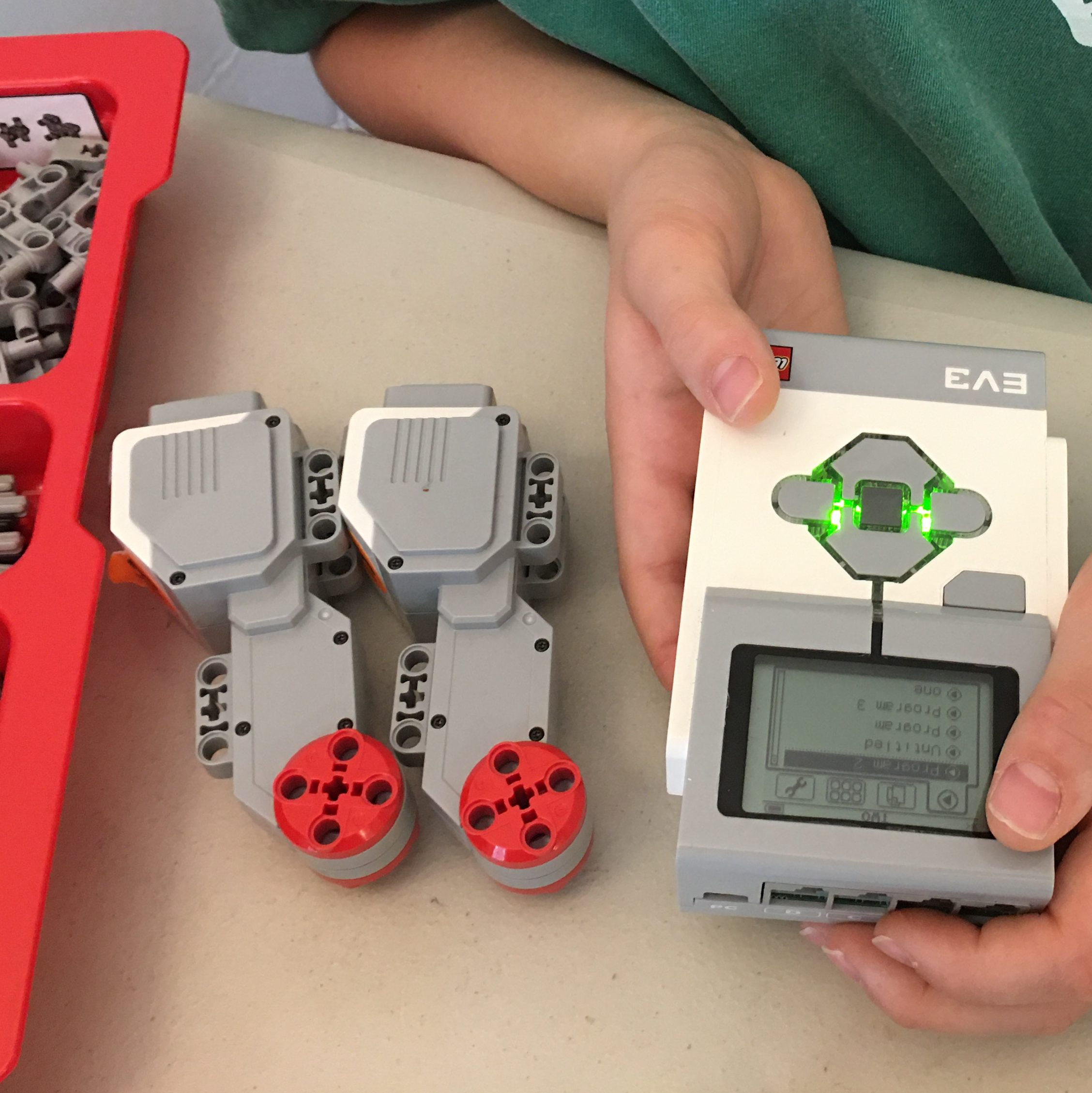 student programming ev3 robot