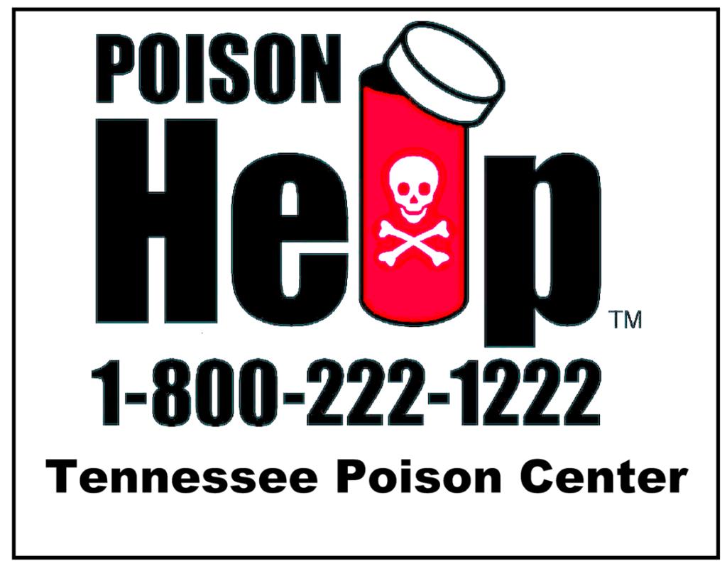 Poison Help Hotline: 1-800-222-1222 Tennessee Poison Center