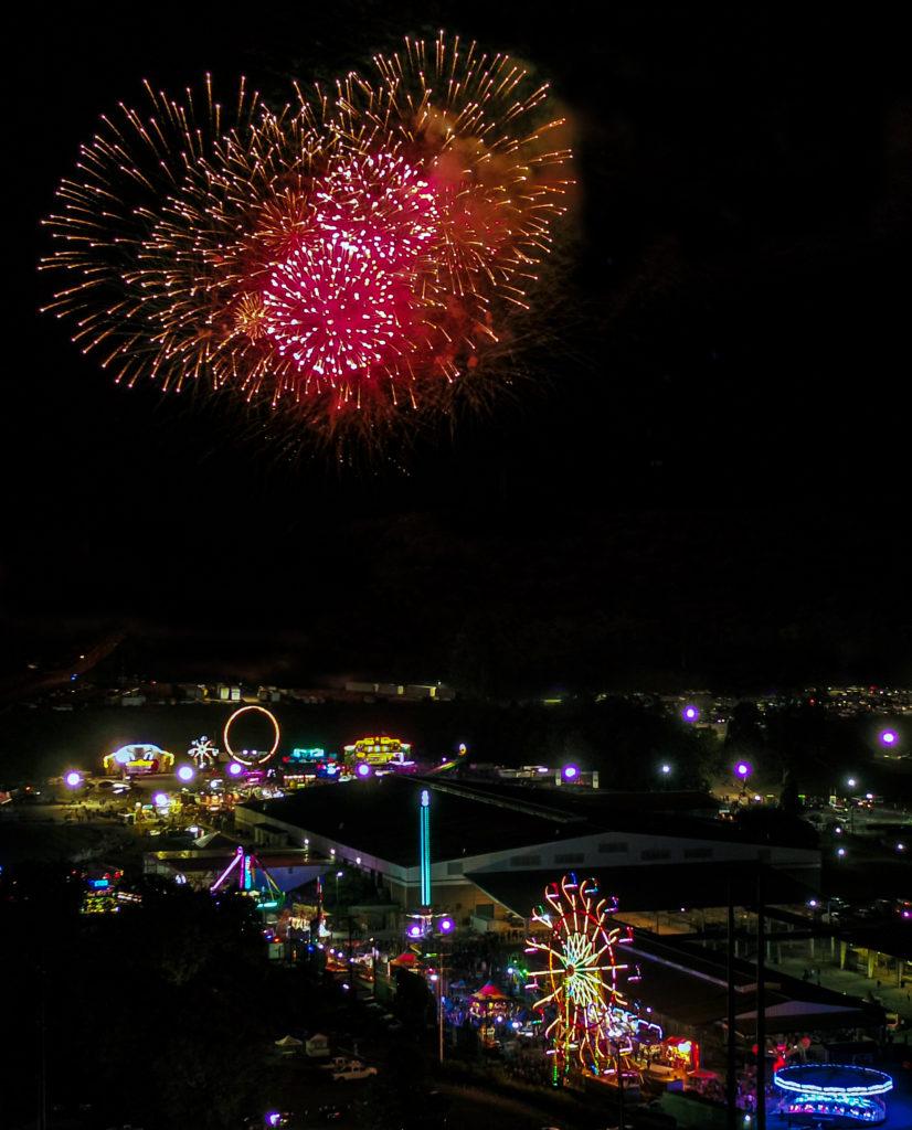 Williamson County Fair fireworks